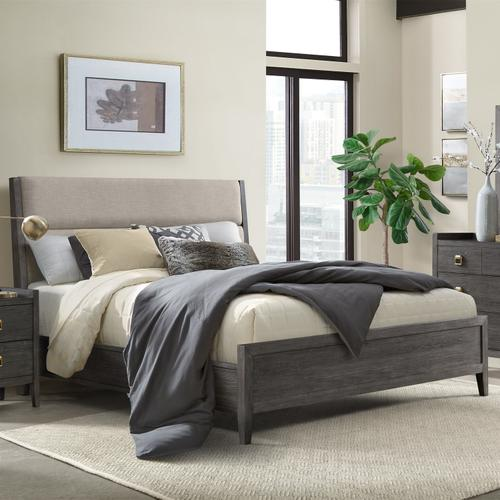 See Details - Portia King Upholstered Bed