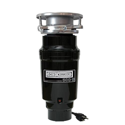 Bone Crusher - 1/3 Horsepower Continuous Feed Disposal with Industry Standard 3 Bolt Mount System