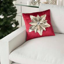 "Holiday Pillows L9966 Red/gold 16"" X 16"" Throw Pillow"