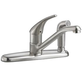 Colony Soft 1-Handle Kitchen Faucet with Side Spray  American Standard - Stainless Steel