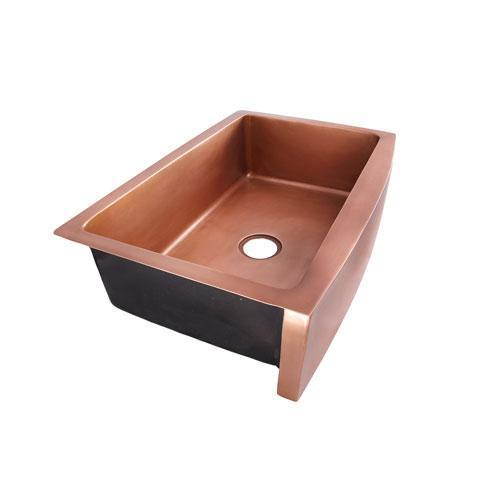 "Emelina Single Bowl Copper Farmer Sink - 33"""