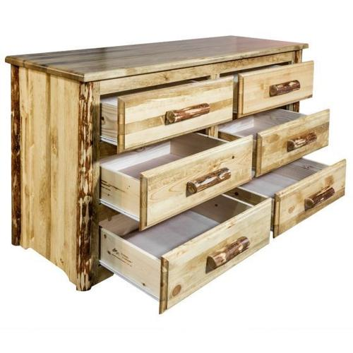 Montana Woodworks - Glacier Country Collection 6 Drawer Dresser