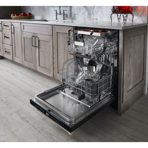 KitchenAid - 44 dBA Dishwasher with Dynamic Wash Arms and Bottle Wash Black Stainless Steel with PrintShield™ Finish