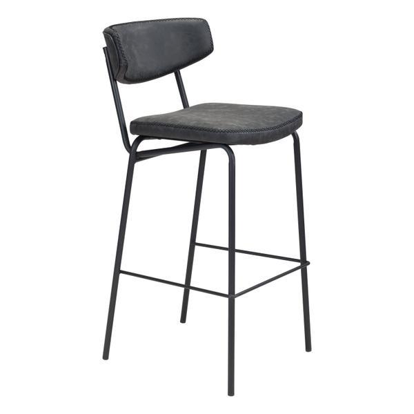 See Details - Sharon Bar Chair Vintage Black
