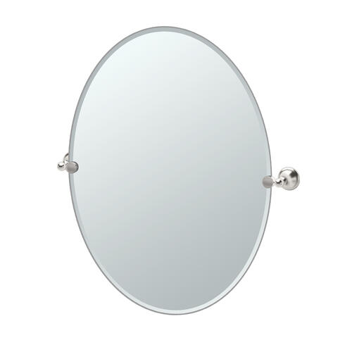 Laurel Ave. Oval Mirror in Satin Nickel