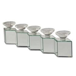 Mirrored Cube Linear Candle Holder 162