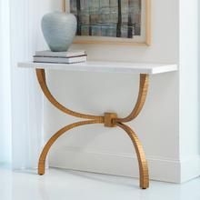 See Details - Teton Console-Gold w/White Marble Top