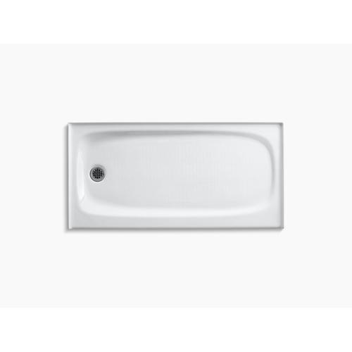 """Kohler - White 60"""" X 30"""" Single Threshold Left-hand Drain Shower Base"""