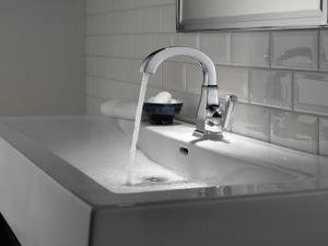 Chrome Single Handle Bathroom Faucet Product Image
