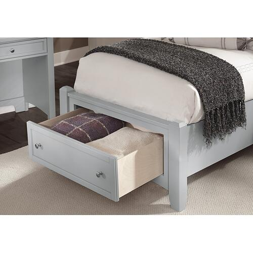 Mansion Bed with Storage Footboard Twin & Full