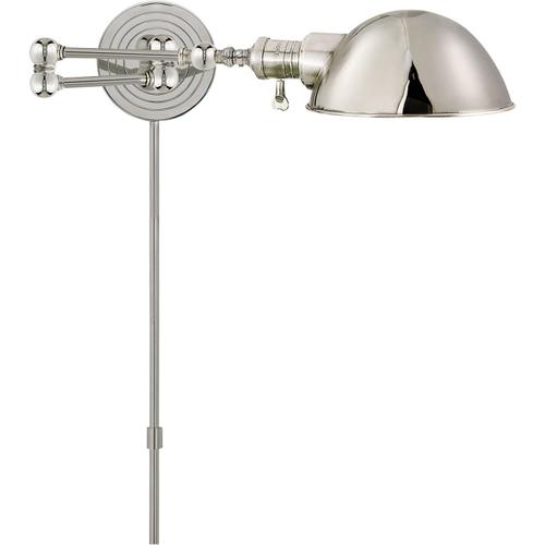 E. F. Chapman Boston 23 inch 60.00 watt Polished Nickel Swing-Arm Wall Light