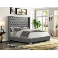 See Details - Alanis Queen Bed, Gray PU