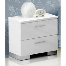 ACME Lorimar Nightstand - 22633 - White & Chrome Leg