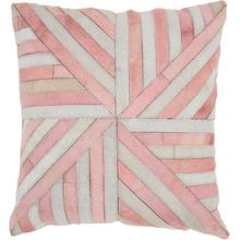 """Natural Leather Hide S4285 Rose 20"""" X 20"""" Throw Pillow"""