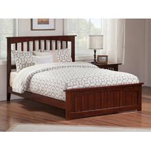 Mission Queen Bed with Matching Foot Board in Walnut