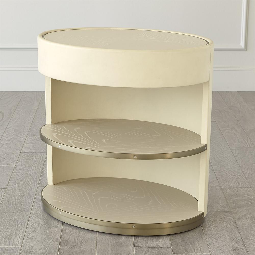See Details - Ellipse Bedside Cabinet-Ivory