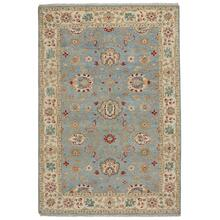 Ashia Azure Ivory Hand Knotted Rugs