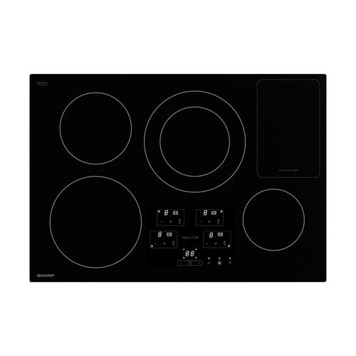 "30"" Width Induction Cooktop, European Black Mirror Finish Made with Premium SCHOTT® Glass"