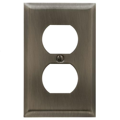 Baldwin - Antique Nickel Beveled Edge Duplex