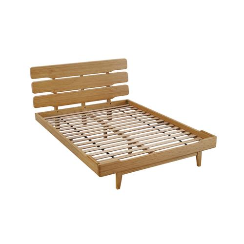 Currant California King Platform Bed, Caramelized
