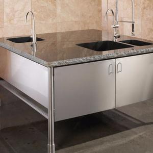 Custom Kitchen Island, Black Granite Product Image