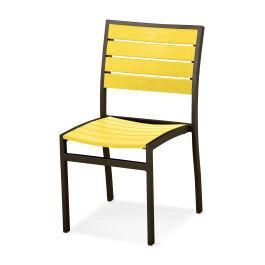 Polywood Furnishings - Eurou2122 Dining Side Chair in Textured Bronze / Lemon