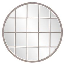 Superior Round White Wash Mirror