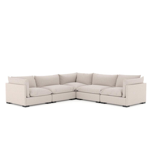5 PC Sectional Configuration Bayside Pebble Cover Westwood 5 Piece Sectional