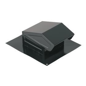 Broan-NuTone® Steel Roof Cap for 3-Inch or 4-Inch Round Duct w/ Damper & Birdscreen, Black