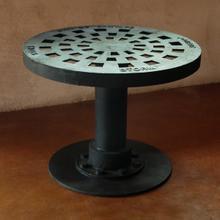 Storm Drain Coffee Table, Cast Iron
