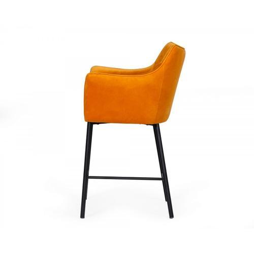 VIG Furniture - Modrest Exodus - Modern Yellow Velvet Counter Stool
