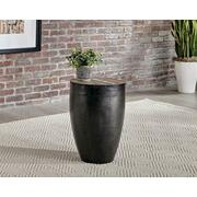 Industrial Round Black Iron End Table Product Image