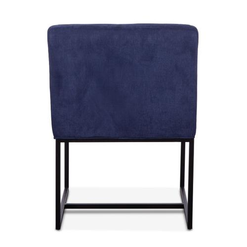 Renegade Rum Navy Linen and Iron Arm Chair