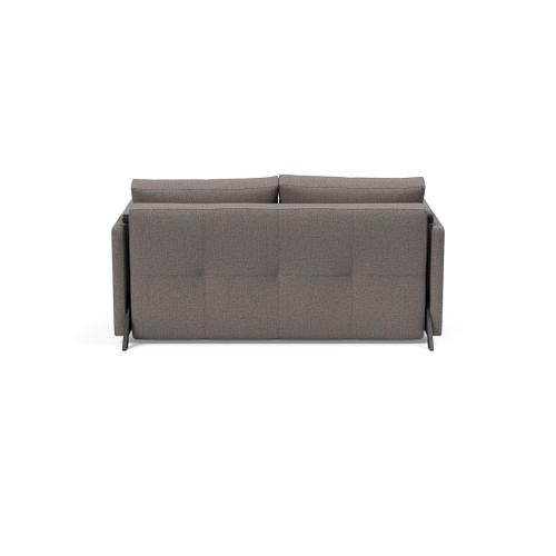 """CUBED 02 SOFA FRONT/MID SEAT, 55""""X79""""/CUBED 02 SOFA BACK & CUSHIONS, 55""""X""""79/CUBED DELUXE ARM RESTS, 1 SET/CUBED FULL SOFA LEGS FOR ARMS, MAT BLK"""