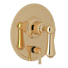 Georgian Era Pressure Balance Trim with Diverter - English Gold with Metal Lever Handle