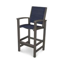 View Product - Coastal Bar Chair in Vintage Coffee / Sapphire Sling
