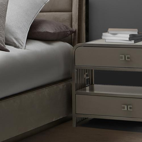 Amini - Metal Accent Cabinet-night Stand-end Table