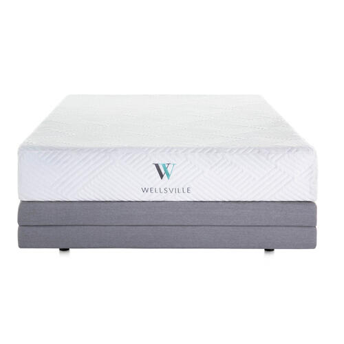 Wellsville 11 Inch Gel Foam Mattress Split Head Queen