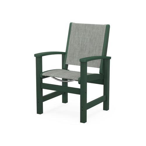 Product Image - Coastal Dining Chair in Green / Birch Sling