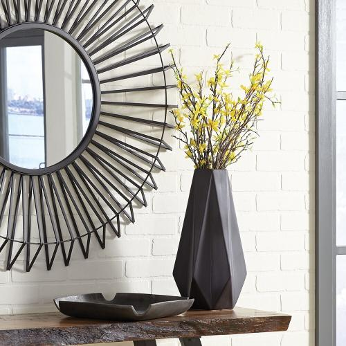 Howard Elliott - Graphite Geometric Star Vase, Large
