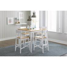 See Details - Counter Table - Oak/White Finish