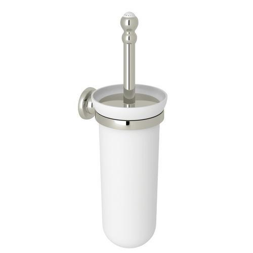 Polished Nickel Perrin & Rowe Wall Mount Toilet Brush Holder