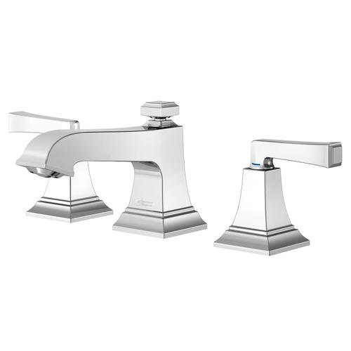 American Standard - Town Square S Widespread Faucet with Red/Blue Indicators - Less Drain  American Standard - Polished Chrome