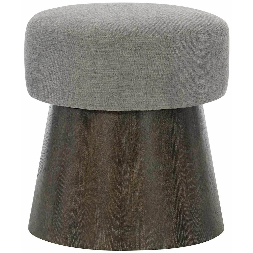Linea Round Bench in Cerused Charcoal (384)