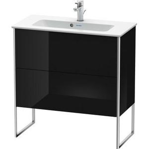 Vanity Unit Floorstanding Compact, Black High Gloss (lacquer)