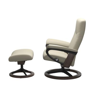 See Details - Stressless® Dover (L) Signature chair with footstool