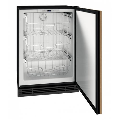 """U-Line - Hfz124 24"""" Convertible Freezer With Integrated Solid Finish (115v/60 Hz Volts /60 Hz Hz)"""