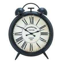 "METAL WD WALL CLOCK 40""W, 50""H"