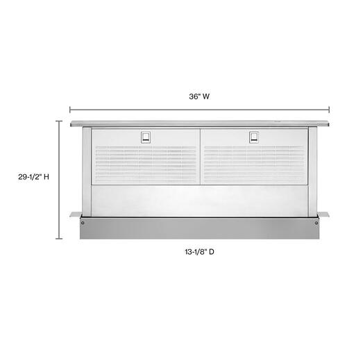 """Whirlpool - 36"""" Retractable Downdraft System with Interior Blower Motor"""