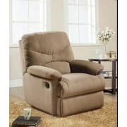 ACME Arcadia Glider Recliner - 00634 - Light Brown Microfiber Product Image
